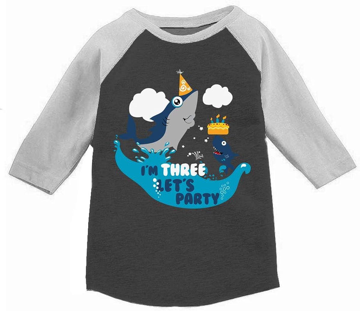 Awkward Styles Shark Toddler Reglan Shirt Shark Birthday Tshirt Gift for 3 Year Old