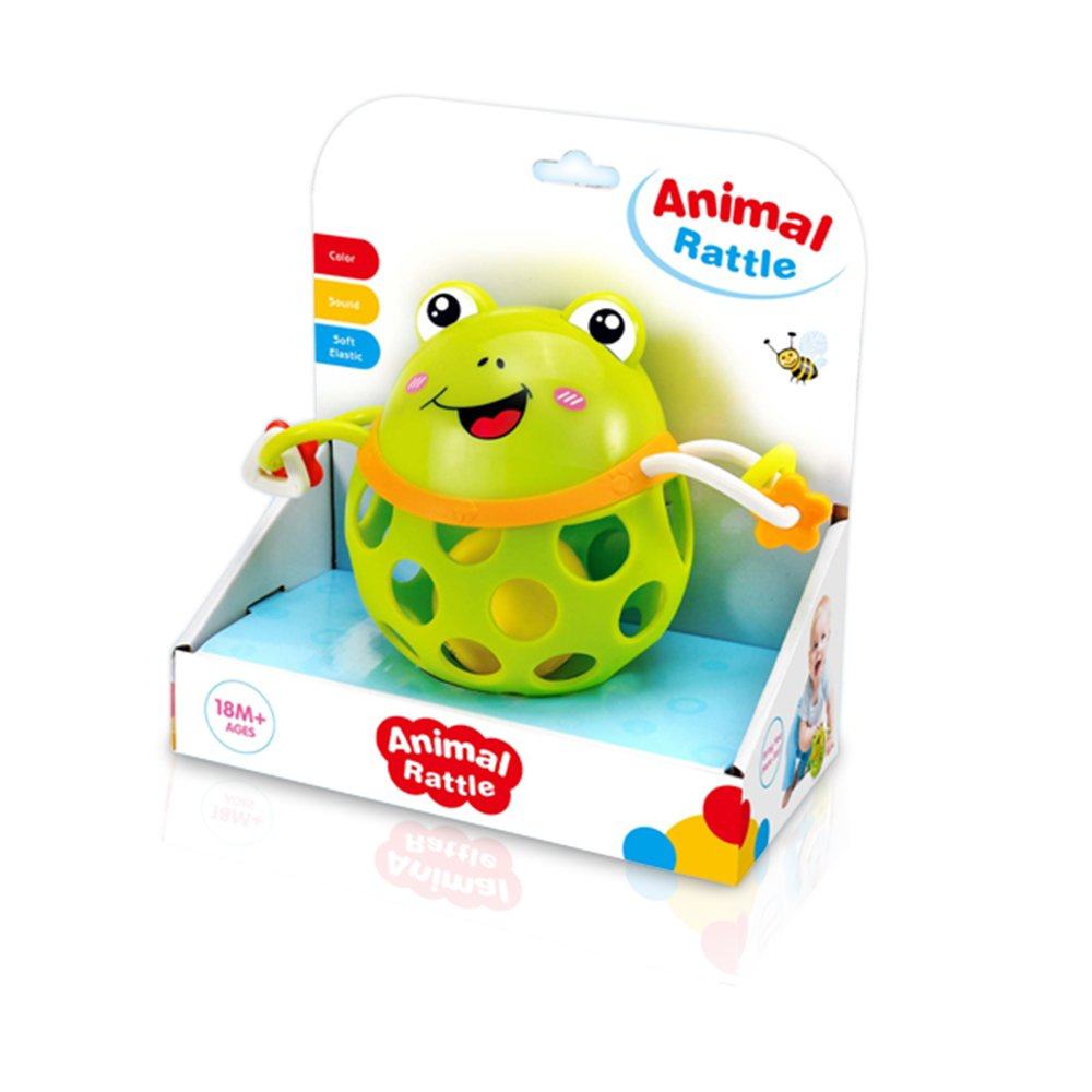 Cute Baby Rattle Animal Frog Ball (Teether) Infants Toy For Childrens 18+ Months Best Baby Toy