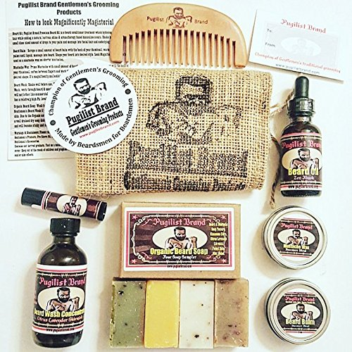 Beardsman's Heavy Bag: Beard Conditioning Kit (Cedar Atlas Shrugged) by Pugilist Brand
