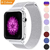Bandx Milanese Loop Band for Apple Watch 38mm 42mm,Stainless Steel Mesh Band with Magnetic Closure for iWatch Series 3 Series 2 Series 1 (White 42mm)