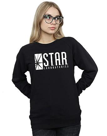 defb0d87 Amazon.com: DC Comics Women's The Flash Star Labs Sweatshirt: Clothing