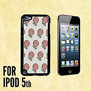 Hot Air Balloon Pattern Custom made Case/Cover/skin FOR iPod 5/5th Generation -Black- Plastic Snap On Case (Ship From CA)