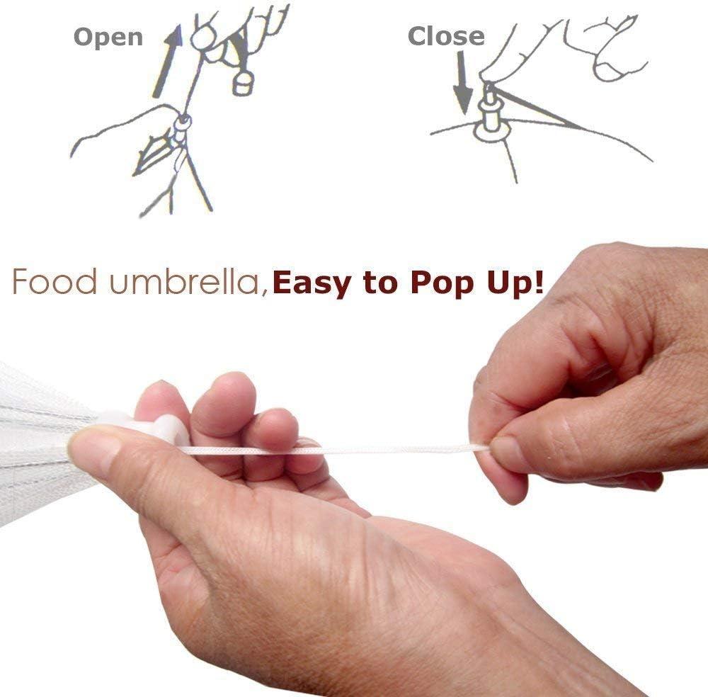 moustiques 6 Pack Grande pop-up en filet Nourriture Coque Tent-set d/écrans 4/r/éutilisable et parapluie pliable Parfait pour la d/écoration murale Keep Out mouches insectes