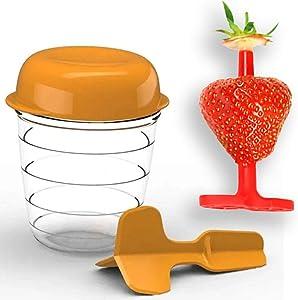 Easy Egg Peeler Boiled Egg Peeler & Egg Chopper and Easy Strawberry Cherry Huller & Tomato Corer Combo