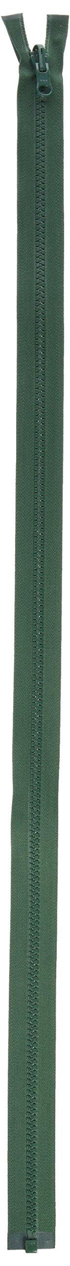 American & Efird Vislon Reversible Separating Zipper: 30'' Dark Green by American & Efird