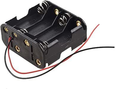 Kamenda - Estuche para pilas AA (12 V, 8 unidades), color negro: Amazon.es: Electrónica