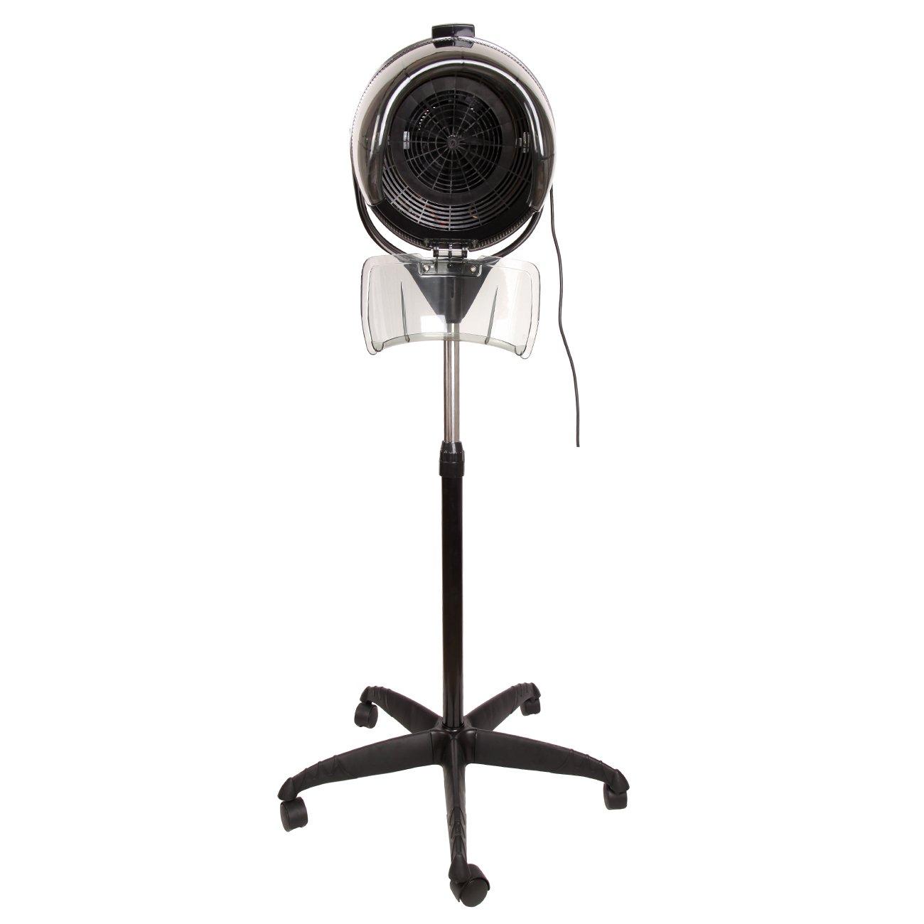 "Ridgeyard 30""-50"" Height Adjustable 900W Professional Salon Beauty Hair Dryer Floor Bonnet Hood with Rolling Base Wheels"