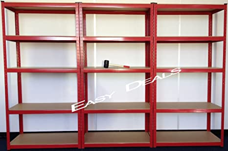Scaffali X Garage.Easydeals Scaffale Per Garage A 3 Sezioni E 5 Mensole In