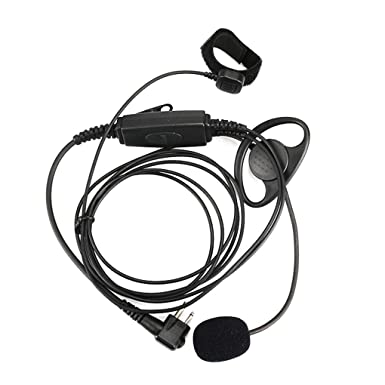 Kakiyi M Plug K Plug 2 Pin Two Way Radio Headset Ptt Button Walkie