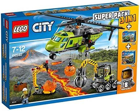 LEGO 66540 Vulcano City - Super Pack 3 en 1 Volcano (60123 ...