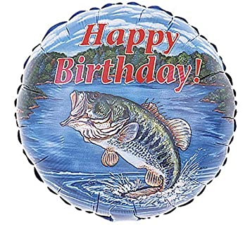 Amazoncom Happy Birthday Bass Fishing 18 Inch Foil Balloon Health