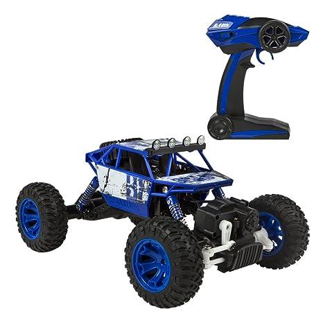 ColorBaby - Coche 4x4 Teledirigido 1:18 Rock Rover, Azul (85286)