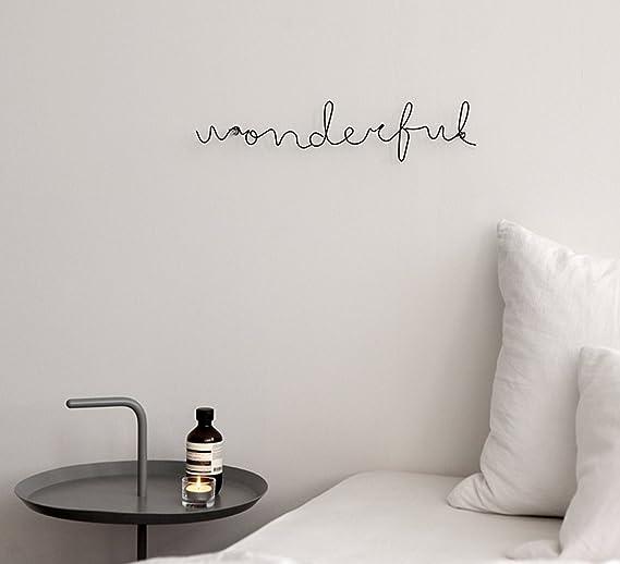 Amazon.com: pared de metal alambre palabra Escultura Hanging ...