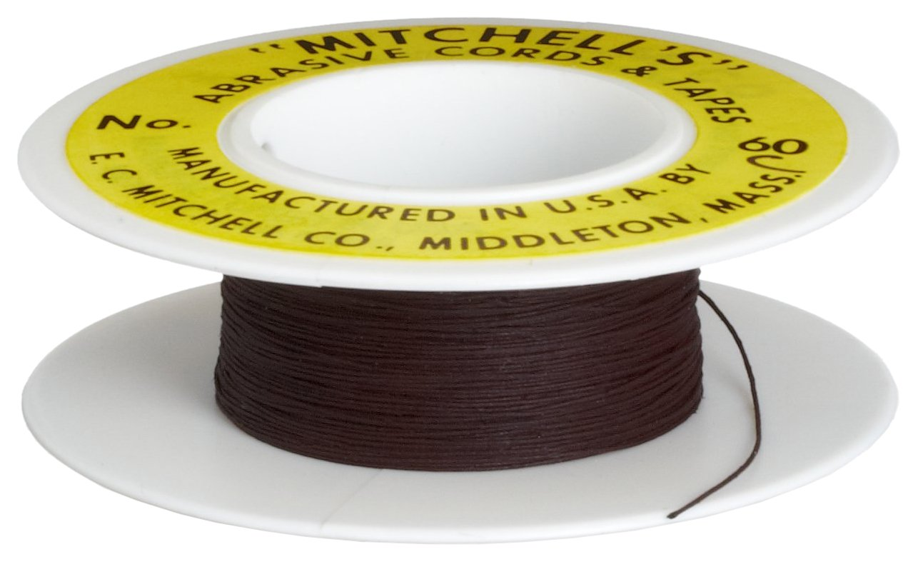 Mitchell Abrasives 60-C Round Crocus Polishing Cord, .015'' Diameter x 25 Feet