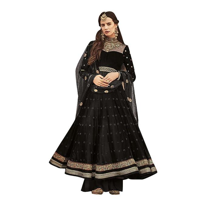 Personalizado para medir Vestido de Fiesta diseñador Anarkali Salwar Vestido Largo Vestido Tradicional Indio Vestido de