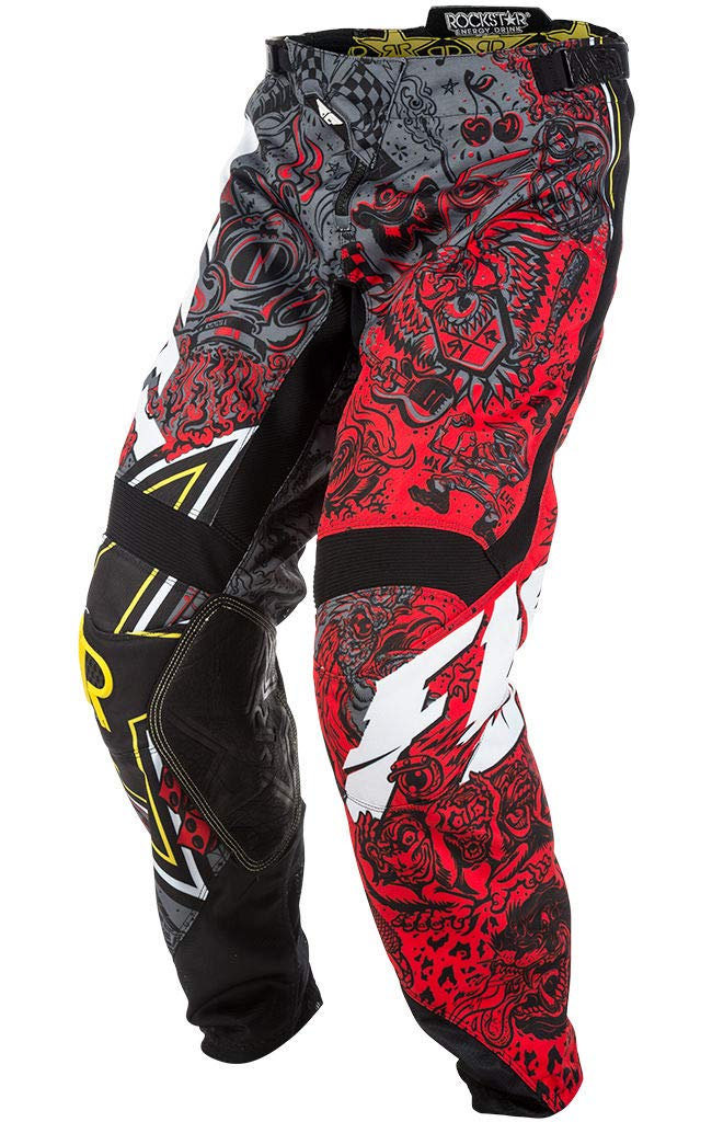 Large // 32 New Fly Racing Kinetic Rockstar Energy Jersey /& Pants Combo Set MX ATV Riding Gear