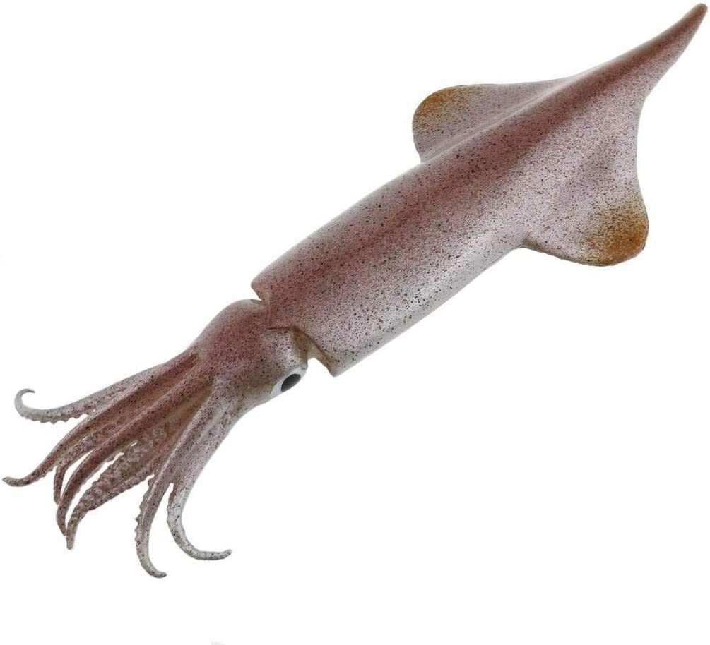 Gresorth 11.4 inch Fake Squid Decoration Artificial Sea Creatures Animal Fish Toy Home Kitchen Shop Restaurant Party Christmas Display