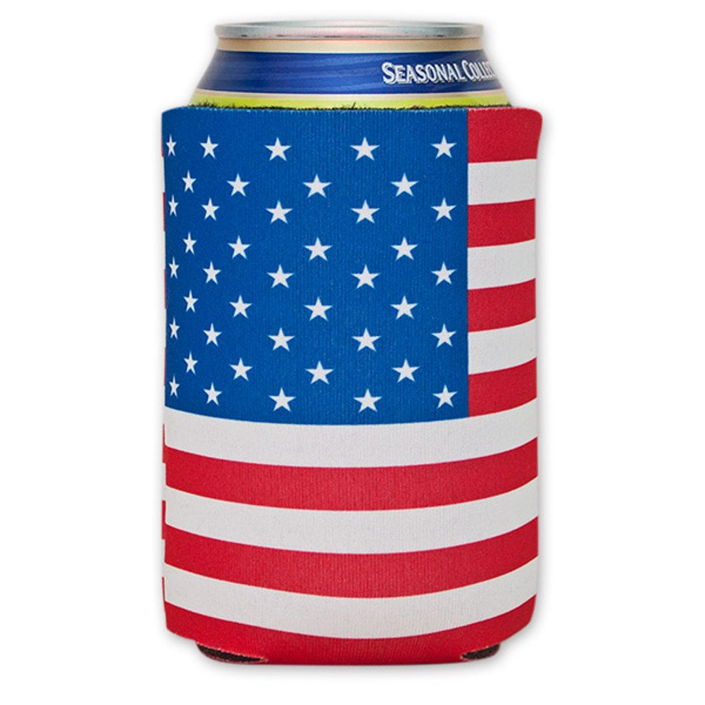 American Flag Can Cooler MyPartyShirt