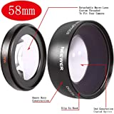 Neewer 58mm Wide Angle Lens 0.45X for Cameras & Camcorders with 58mm Size Lens Filter Thread, such as Canon Digital EOS Rebel T1i, T2i, T3, T3i, T4i, T5i, SL1, EOS 60D, EOS 70D, 50D, 40D, 30D, EOS 5D, EOS 1D, EOS 5D Mark 2, EOS D Digital SLR Cameras