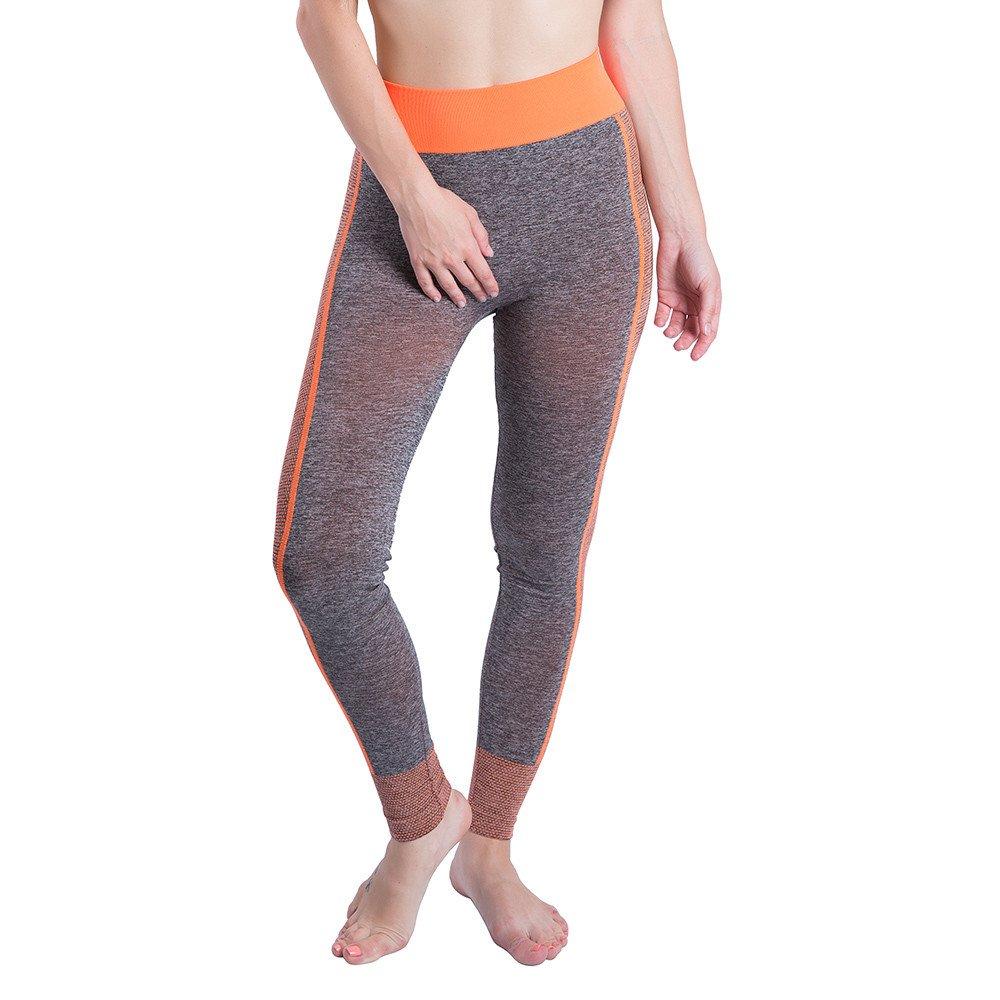 BOLUOYI Yoga Pants for Running Sports Fitness Gym,Womens Yoga Clothing,Women Gym Yoga Patchwork Sports Running Fitness Leggings Pants Athletic Trouser,Orange,L