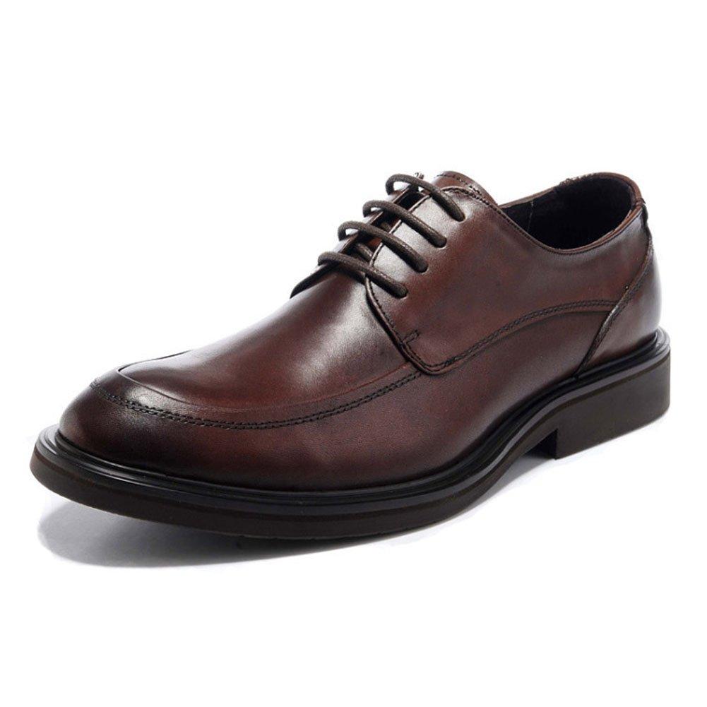 CAI Herrenschuhe Leder Formale Schuhe 2018 Herren Schuhe Vier Jahreszeiten Schuhe Männer Lace-up Business Schuhe Kleid Schuhe Büro Lederschuhe (Farbe   Braun, Größe   39)