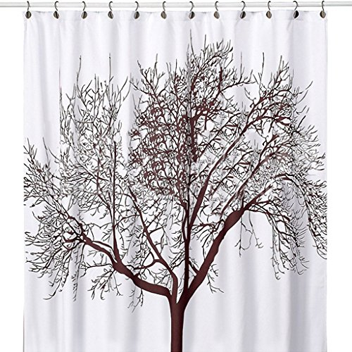WoneNice Waterproof Shower Curtain Design