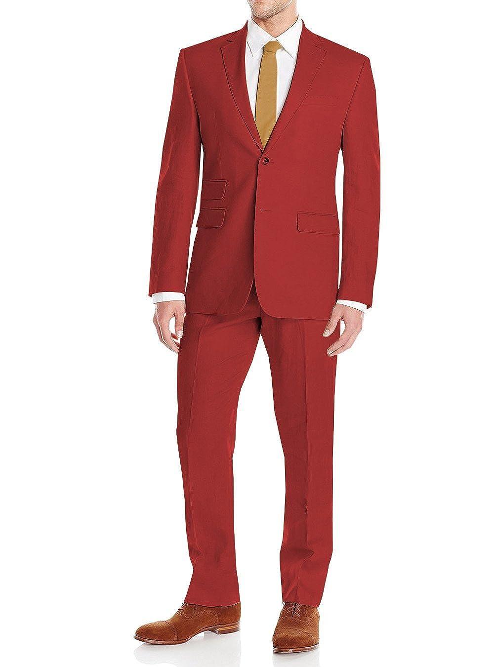 3df1140e5a18 DTI GV Executive Men s Linen Suit 2 Button Modern Fit Summer Blazer Coat  Pants at Amazon Men s Clothing store