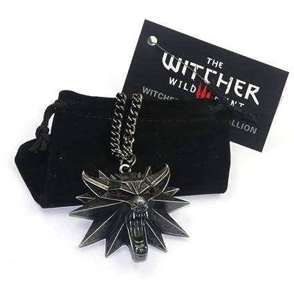 Amazon.com: The Witcher 3 Wild Hunt Wolf Head Medallion ...