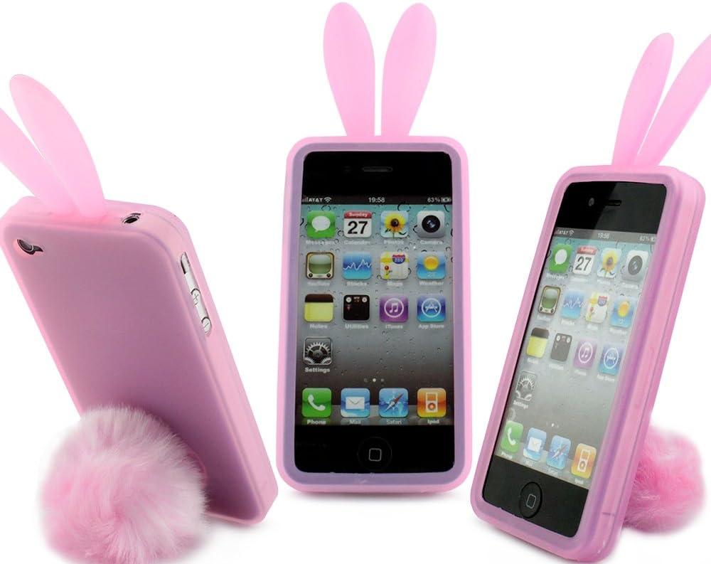 Coque de protection Lapin ROSE pour iPhone 4/ 4S