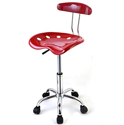 Adjustable Bar Stools ABS Tractor Seat Swivel Kitchen Chrome Drafting  Modern Chair 1PC Breakfast Red