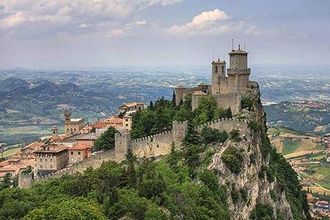 Amazon Com Rocca Della Guaita The Most Ancient Fortress Of San Marino Italy Europe Landscape City Poster Print Wall Decor 25 By 17 Inches Posters Prints