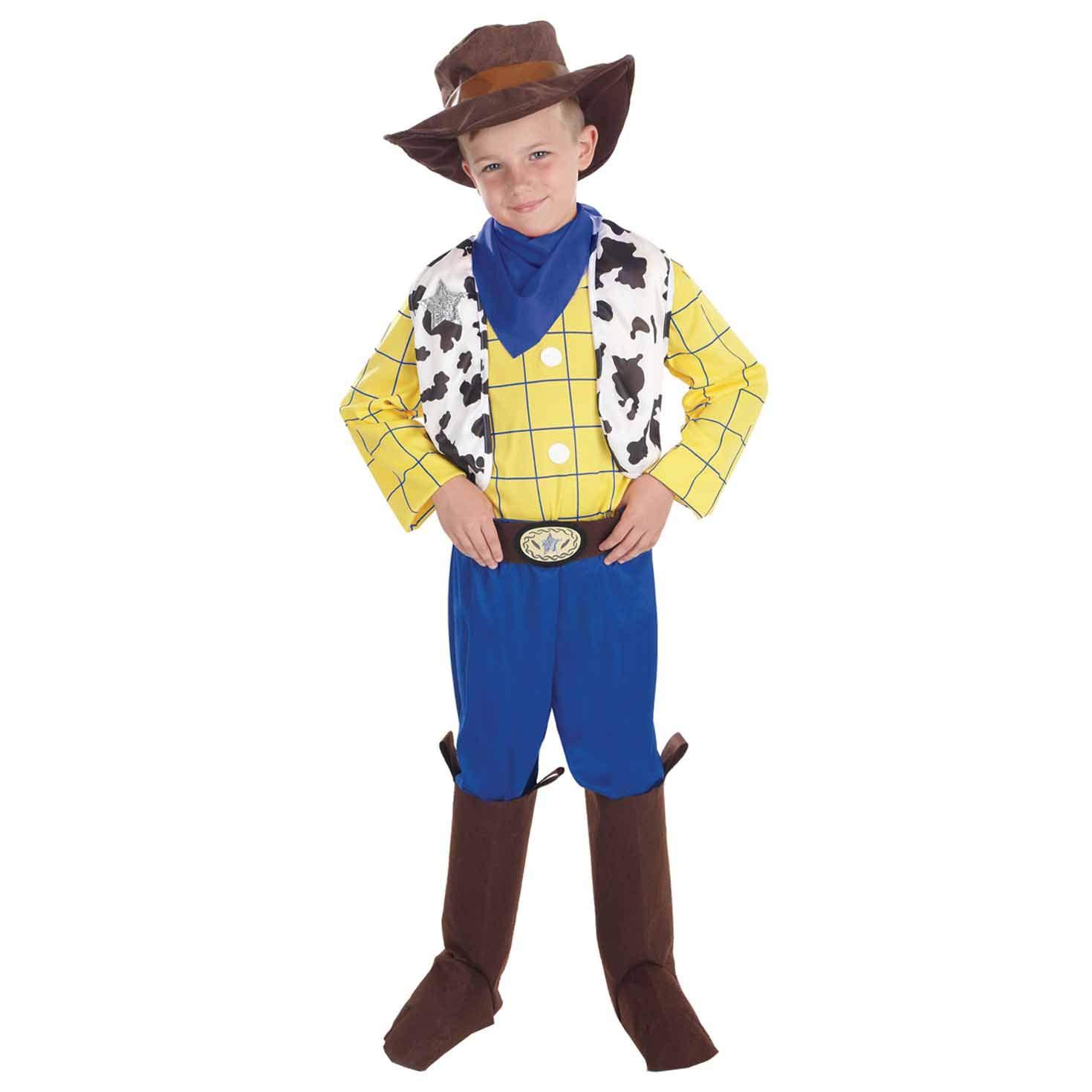 Fun Shack Amarillo Vaquero Disfraz para Niños y Niñas - M: Amazon ...