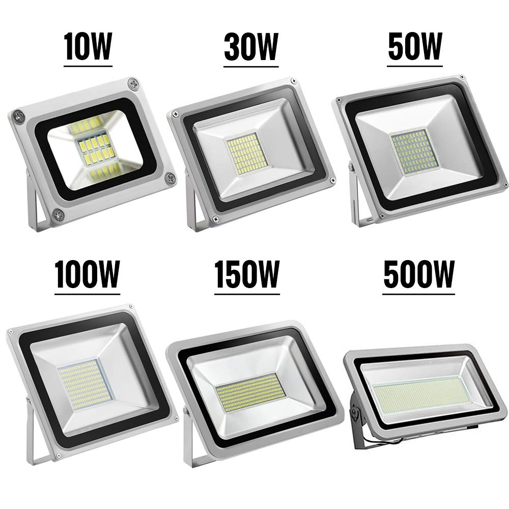 Landscape Light for Yard,Garden,Hall,Stage,Commercial Light,3-year Warranty Warm White, 100W YIMEIS Outdoor 10W-500W LED Flood Light,IP66 Waterproof,800-50000lm Super Bright Outdoor Security Light