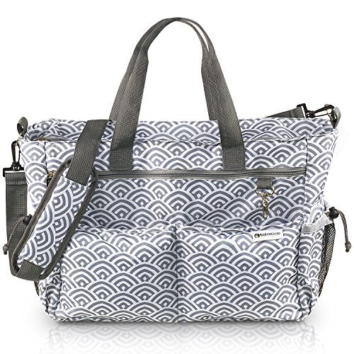 BABYHOOD X-Large Designer Baby Diaper Bag with 12 Multi-Use