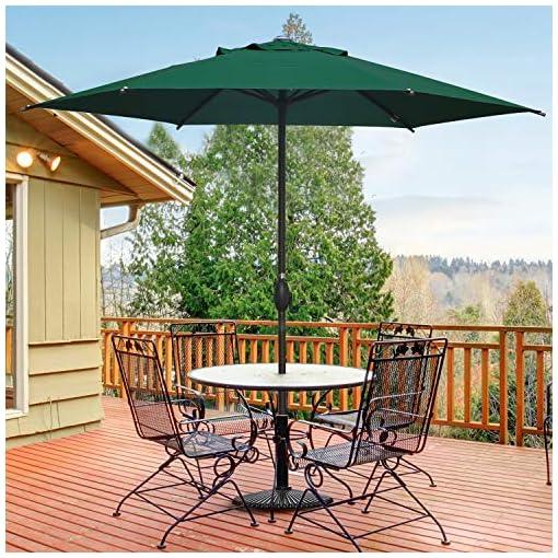 Garden and Outdoor Abba Patio 9ft Patio Umbrella Outdoor Umbrella Patio Market Table Umbrella with Push Button Tilt and Crank for Garden… patio umbrellas