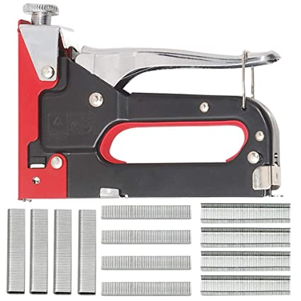Apollo - Grapadora y pistola de clavos 2 en 1, material de fijación para tapizado de muebles, ...