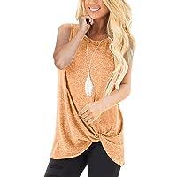 Doric Women's Summer Sleeveless Tank Tops Cute Twist Knot Fashion T Shirt Casual...