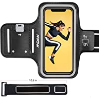 Mpow Running Armband for iPhone Xs/X/ 8/ 7/ 6S/ 6 【Phones up to 5.8''】, Sweatproof Sports Armband with Extension Strap/Card Pocket/Key Holder and Earphone Holder, Suitable for Running, Jogging