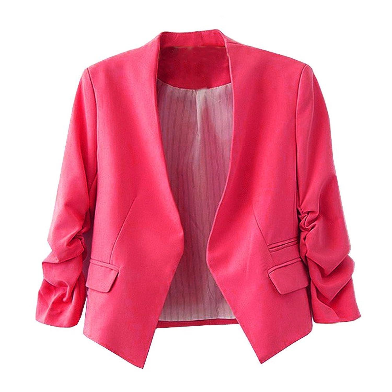 Zacoo Women&39s Folding Sleeve Office Blazer at Amazon Women&39s