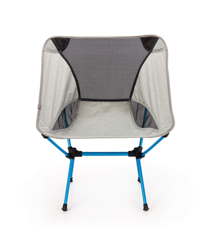 ZHANGJN Ultralight Portable Camp Chairs Aluminum Folding Backpack Chair with Carry Bag for Fishing, Festival, Beach, Hiking-Grey by ZHANGJN