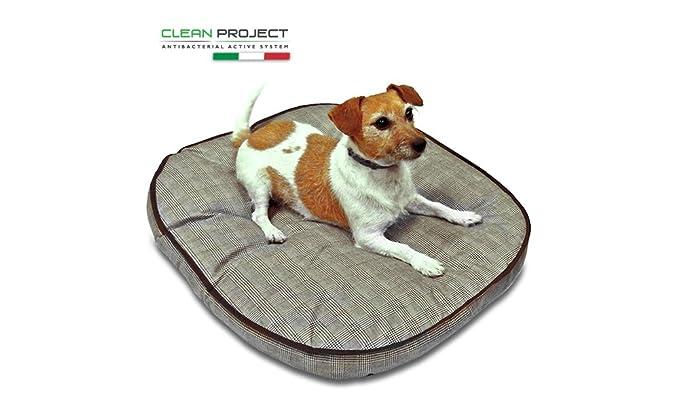 Cojín/colchón/cama para caseta de perro, de tejido tecnológico @Clean Project, antibacteriano, con sistema Active System con propiedades desinfectantes, ...