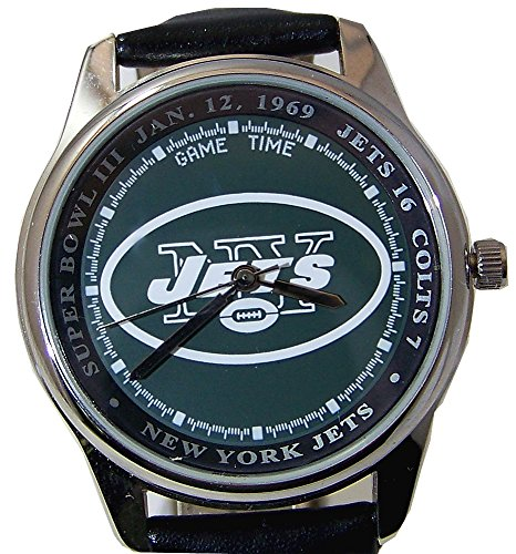 Ny New York Jets Super Bowl Iii Watch Game Time Vintage Wristwatch