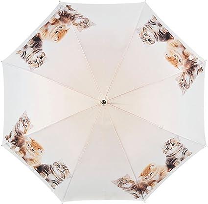 VON LILIENFELD Paraguas Automática Mujer Motivo Trio de Gatos: Amazon.es: Equipaje