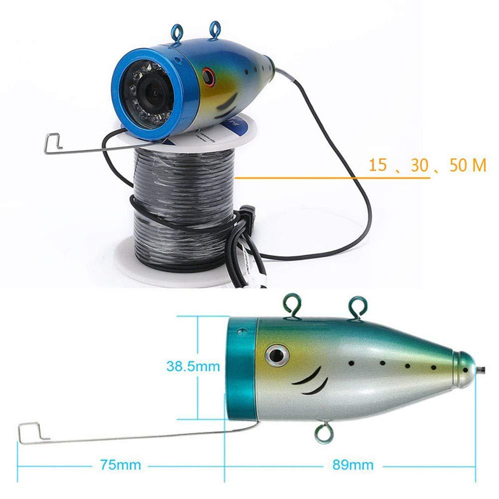 Unterwasserfischen Kamera Installationssatz 9 Zoll DVR Recorder Fischen Monitor beweglicher Fisch Sucher 30M kaltbest/ändiges IP68 wasserdichtes Kabel mit beweglichem Aluminiumfall 15pcs wei/ßes LED