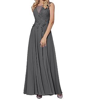 Charmant Damen Spitze Kurzarm Elegant Chiffon Abendkleider  Brautmutterkleider Partykleider Abschlussballkleider Lang 1500407d5c