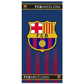 FC Barcelona Toalla de Playa Escudo del Club de fútbol Fan 70 cm x 140 cm: Amazon.es: Hogar