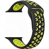 ZRO Cinturino for Apple Watch, Morbido Silicone Braccialetto Sportiva di Ricambio per 38mm iWatch Serie 3/ Serie 2/ Serie 1, Taglia S/M