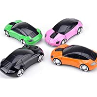 Hiuopes Car Shape Wireless Optical Mouse Mice for Laptop PC USB Receiver