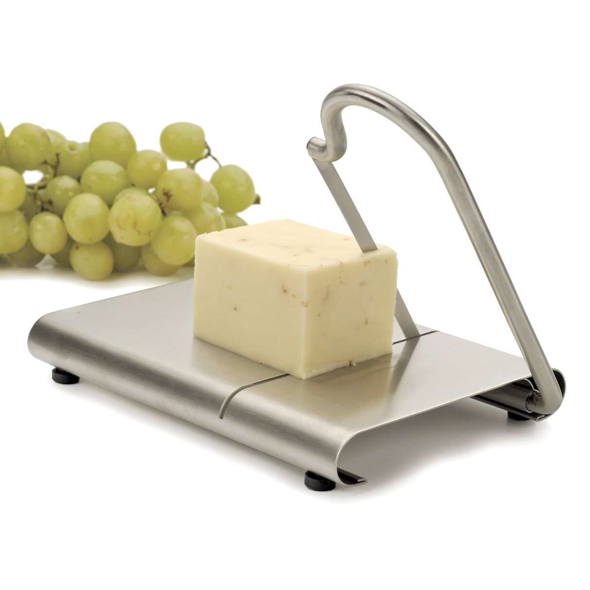 RSVP Endurance Stainless Steel Modern Cheese Slicer with Stainless Steel Blade RSVP International FBA_CHZ-BL