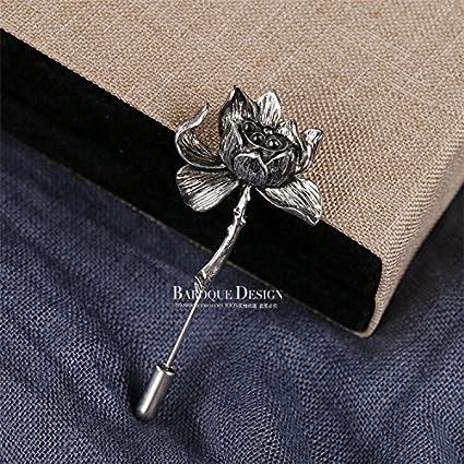 Amazoncom Lotus Personalized Retro Brooch Accessories Korean